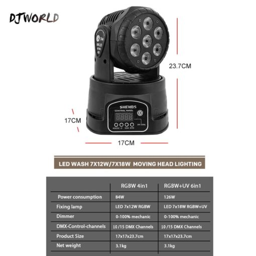 Moving Head Disco Strobe Light Features