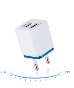 Dual USB Wall Charger 110 to 240 Volts