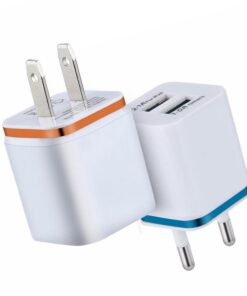 Dual USB Wall Charger Prongs