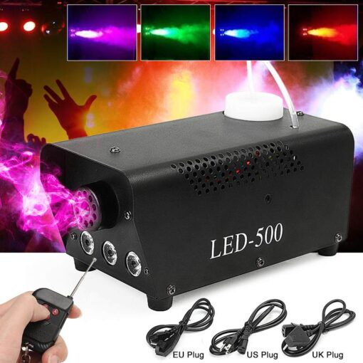 Remote Control Fog Machine with Multiple LED Colors