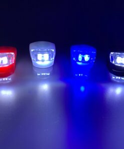 Red White Blue or Black Bike Mounted Light