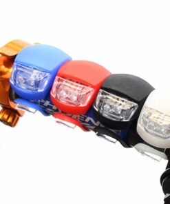 Bike Mounted Safety Lights on Handlebars