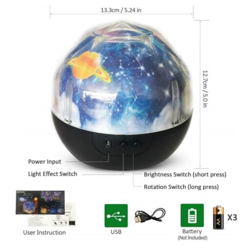 Space Projection Lamp Dimensions