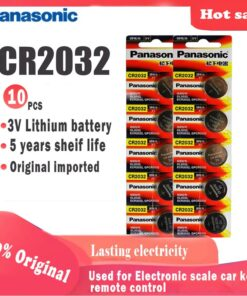 10 pack CR2032 button cell batteries
