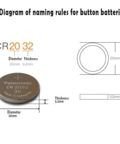CR2032 Button Cell Dimensions
