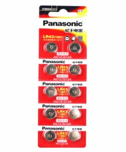 10 pack LR43 button cell batteries