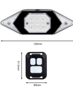 Steering Tail Light – RC Safety Indicator Dimensions