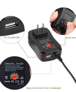 Adjustable & Universal AC-DC Power Supply Features