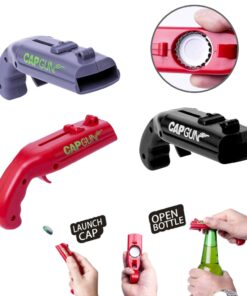 Red Grey Black Bottle Opener Launcher